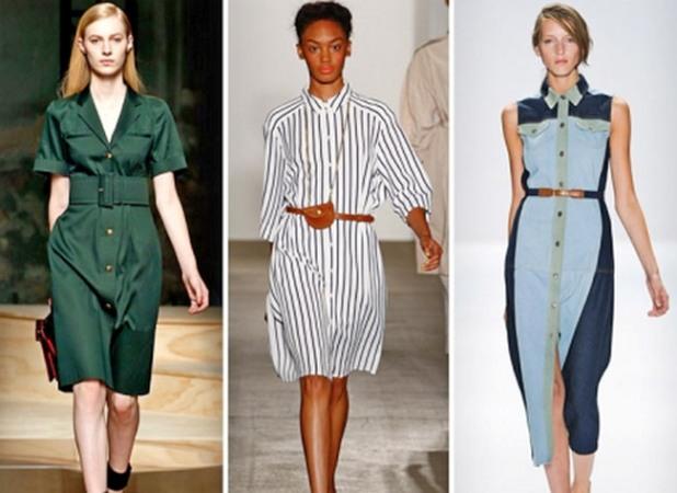 3174bb7d99b ... модель повседневного платья – платье-халат. Потом Ив Сен Лоран  усовершенствовал его. После чего оно стало выглядеть так  свободное в  плечах и облегающее ...